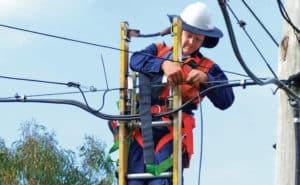 Electrical Lineman Repairing Wires
